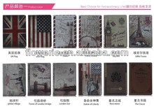 FL318 hot selling England classical stand wallet leather case for ipad air