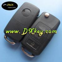 Good quality sell online for car key housing 3 button vw B5 key shell custom vw key fob case with battery holder
