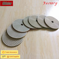 Diamond abrasive wet polishing pad for marble