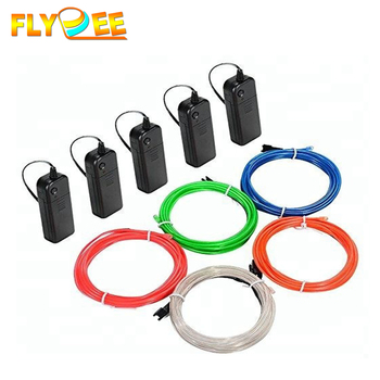 Super bright Flexible neon rope 1m 2m 3m 4m 5m and Feel free to cut EL Wire lighting