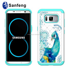 For Samsung Galaxy S8/S8 Plus Case,Vivid Peacock Pattern Mobile Phone Flip Cover Case For Samsung Galaxy S8 Plus