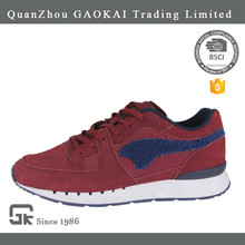 Wholesale customize comfortable red mens casual sports shoes with rubber bottom