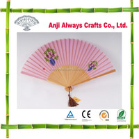 OEM Japanese Folding Bamboo Silk Hand Fan for Decoration