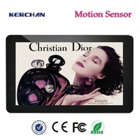 10 inch hd hot video free downloads for advertising with body sensor