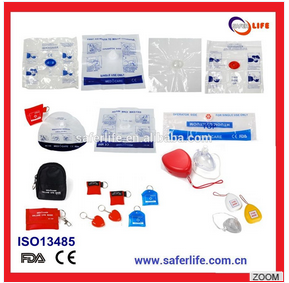2017 CE FDA approved CPR face shield resuscitation oral emergency CPR mask kit Emergency CPR kit