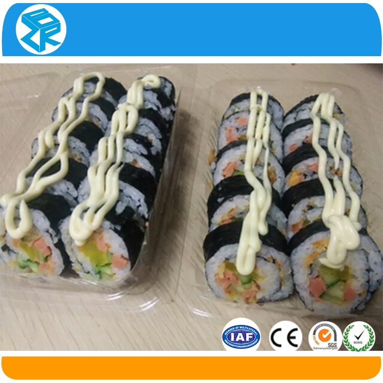 Bespoke take away packaging box plastic sushi nori box