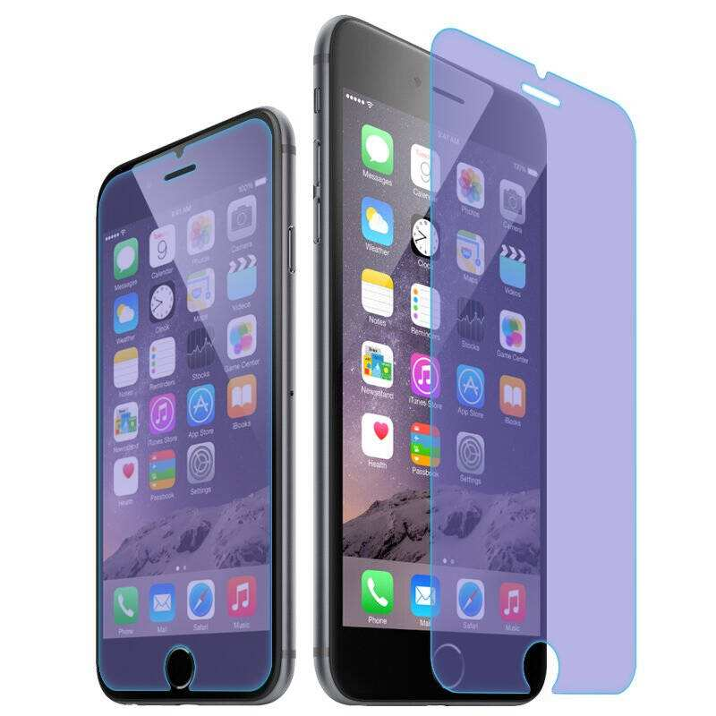 Japan Blue Film Anti Blue Ray Tempered Glass Screen Protector Film For iphone 7 Plus