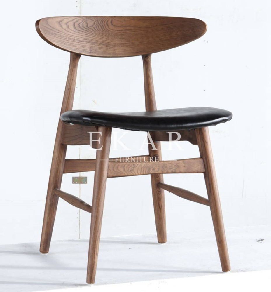 Wholesale Round Back Pu Dining Chair <strong>Leather</strong> Lougue Restaurant Fruniture Chair