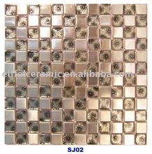 SJ02 Metal Glass Mosaic Tile