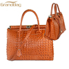 2016 new Design handbags Italian leather Croco Print women shoulder bag high quality alligator leather travel tote bag for lady