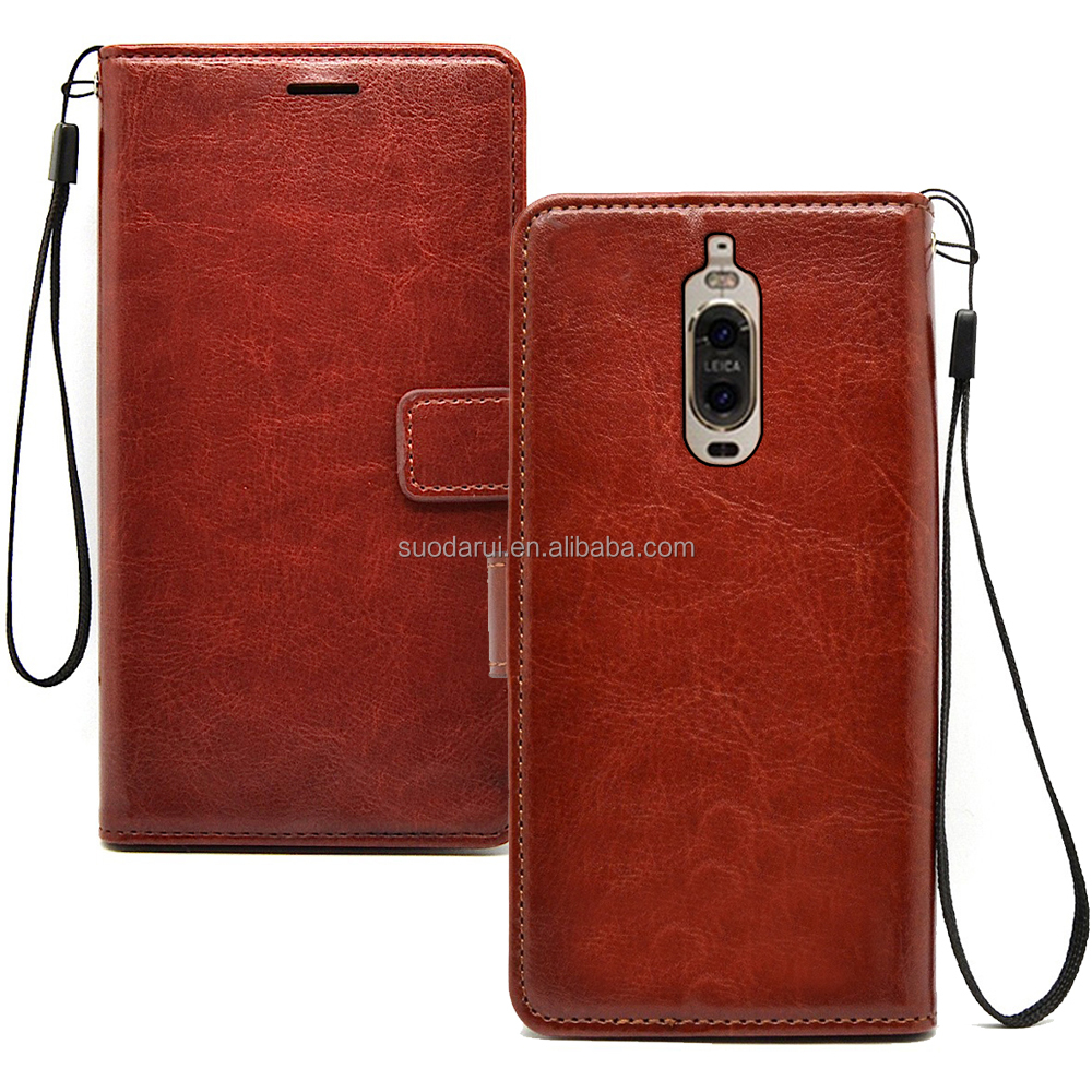 High Quality PU Leather Magnetic Flip Cover Case for Huawei Mate 10 with stands Case for Huawei Mate 10