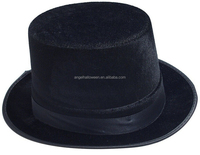 Promotion Custom Carnival Non-woven Factory Price Black Round Top Hats On Sale TH1505