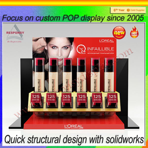 pop products cosmetic makeup clear transparent acrylic lipstick organizer display