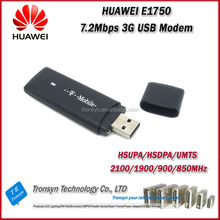 Wholesale Original Unlock HSDPA 7.2Mbps Huawei E1750 3G Internet International USB Modem Support Tablet PC