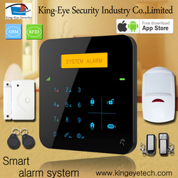 2016 new arrival LCD touch screen backup battery APP control GSM security silent alarm system