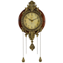 Luxury Old Fashion Pendulum Mounted Wall Clock