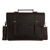 15'' Laptop Bag Custom Handmade Genuine Leather Briefcase for Man 6148