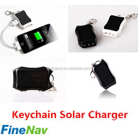 LED torch keychain mini solar charger LED indicators solar mobile charger for samsung mobile phone