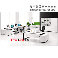 Picture Of Wooden Office Table White Executive Desk for Sale GH-107