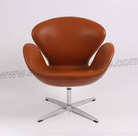 CH149 Full leather Arne Jacobsen Swan Chair in hotel