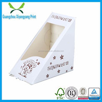 New arrival triangle shape die cut design paper box for small items