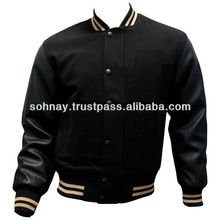 Varsity Jacket, Wool Body Leather Sleeves with custom Logo