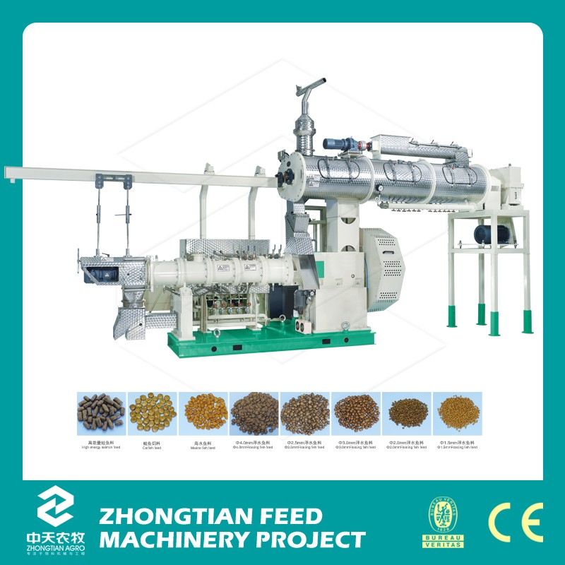 Best quality electric fish food floating extruder pet pellet feed bulking machine