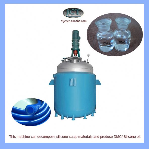 machine for Pyrolysising silicone rubber for spin casting