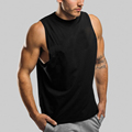 China Manufacturer Custom Mens Fitness Black Clothing Sleveless Cotton Active Gym Tank top