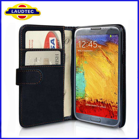 Fashion Leather Case For Galaxy Note 3 Wallet Design With Card Holder For Samsung Galaxy Note 3 N9000 N9002 N9005