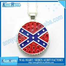 1 dollar gifts Flag design golf ball marker attached fashion necklace