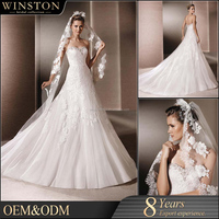 Hot Sell Good Quality 2016 New Style rubber wedding dress