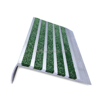matte finish carborundum strips aluminum stair nosings for schools