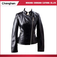 Chonghan 2017 Wholesale Fashion Design Woman Leather Jacket For Ladies