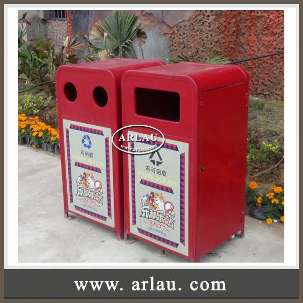 Arlau Cream Dustbin, Decorative Garbage Bin Factory, Double Layer Garbage Bin Hotel Trash Bin