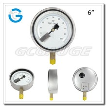 High quality bottom type 160 mm yf pressure gauge