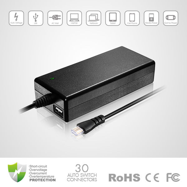 Brand new 90W Universal Laptop Adapter with 5V 2A USB power supply