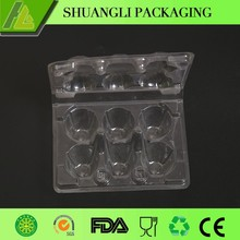 High transparent 6 ct plastic PVC/PET egg packaging cartons quail eggs tray