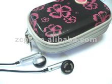 Double Zip Puller EVA Earphone Carrying Case with Printings