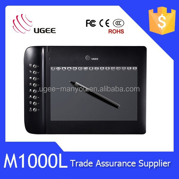Ugee M1000L graphic <strong>tablet</strong> 2048 levels 4000lpi 10 inch drawing <strong>tablet</strong>