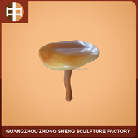 polyresin mushroom statue for outdoor decorative