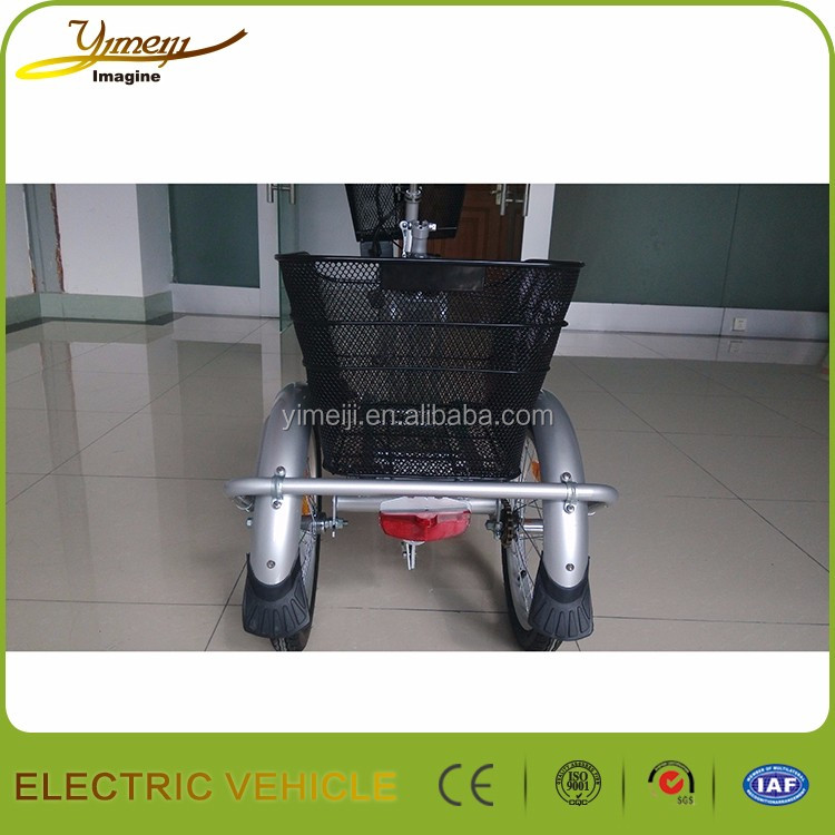 Popular help push folding Electric Tricycles for adults CE certification
