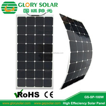 Popular amorphous silicon 100w flexible solar panel for boat ebike Australia