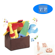 custom baby plush musical stuffed tool bb sound educational toys