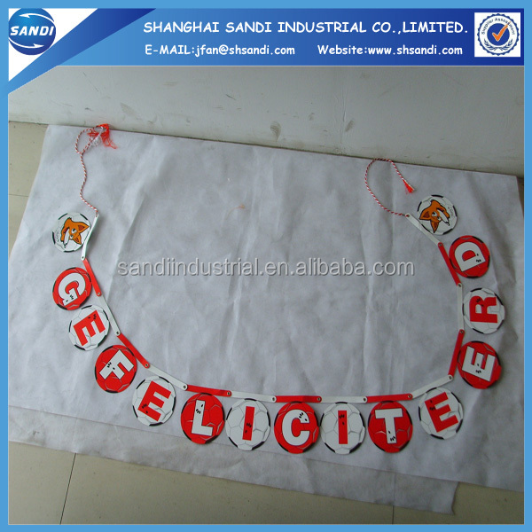China factory custom paper bunting flag