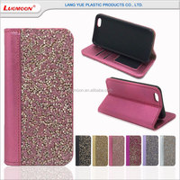 universal TPU/PC back cover detachable wallet leather case for iphone 5 6 7 se 5c