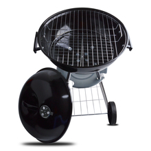 BB624 Porcelain Enameled 44cm Diameter Steel BBQ Charcoal Black Apple Shape Round BBQ Grill