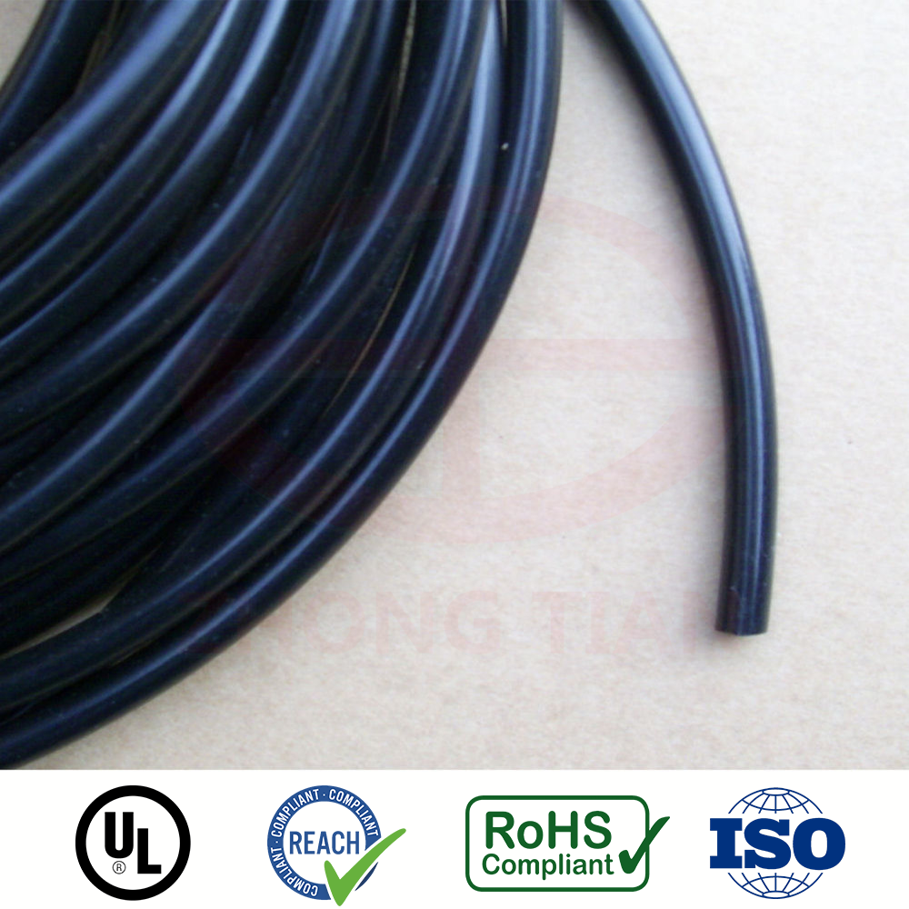 0.25 inch 0.125 inch Diameter soft PVC tube in Black