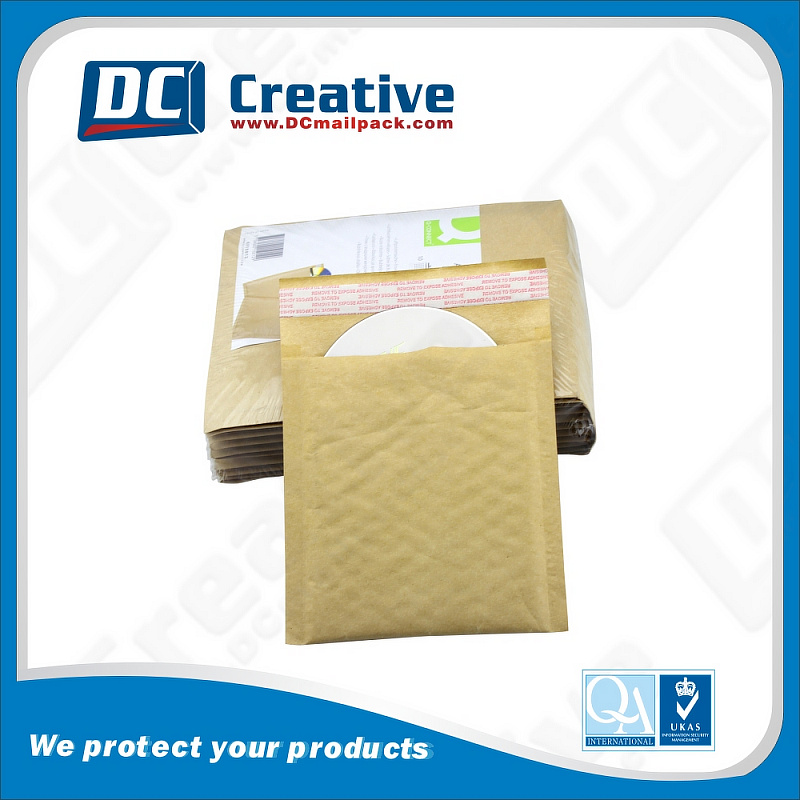 Wholesale Custom Size Brown Craft Paper Bubble Envelope Mailing Bag