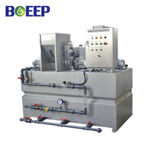 Chemical mixing system dosing water for treatment